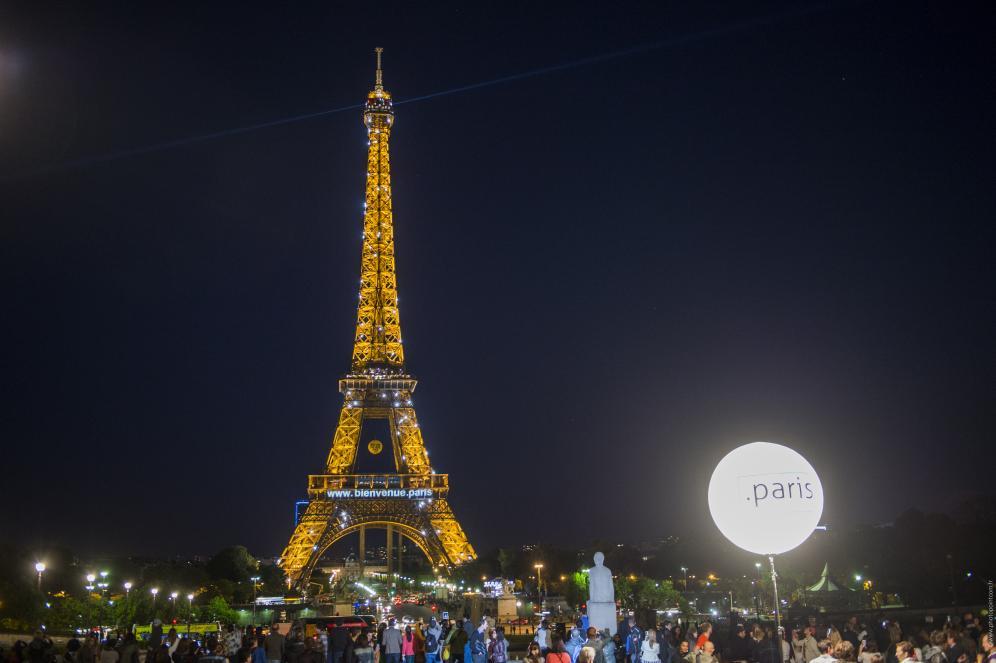 tour eiffel de nuit extension .paris