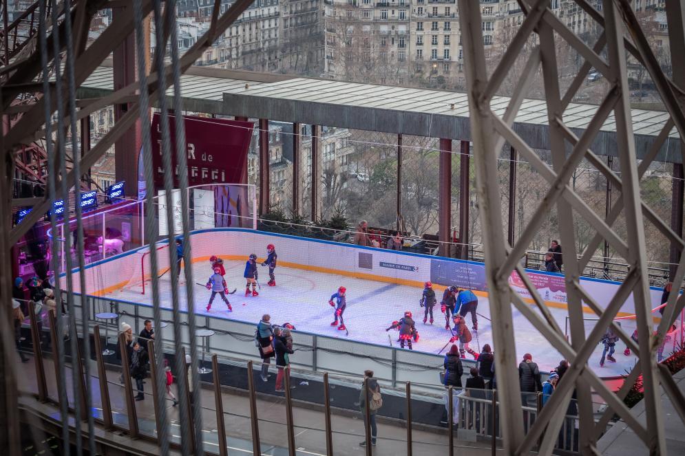 vue aérienne de la patinoire