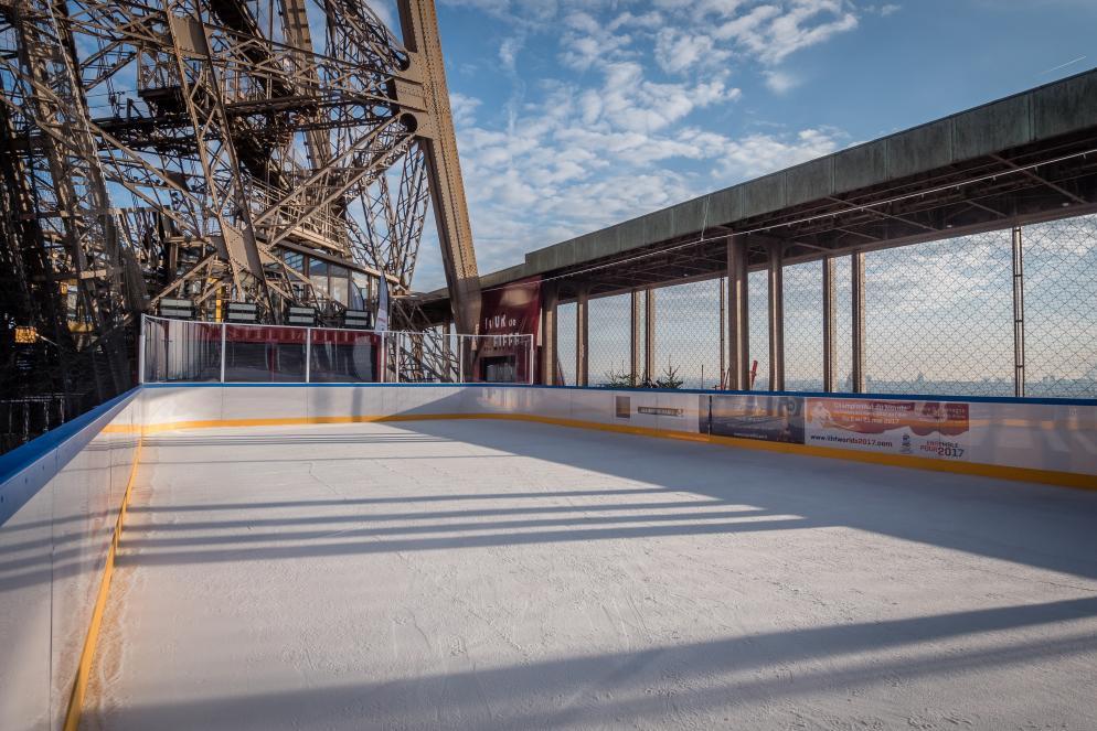 patinoire 1er étage de la Tour Eiffel